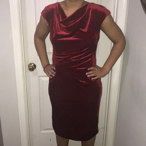 Women's formal red velvet dress size 14